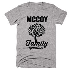 MCCOY Family Name Reunion Gathering Surname T-Shirt
