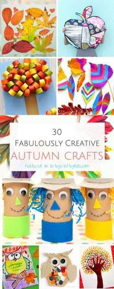 Arty Crafty Kids Craft Autumn Crafts 30 Fabulous and Creative Fall Crafts for Kids! Find Scarecrows, Autumn Trees, Leaf Crafts, Owl Crafts and more. Fall Crafts For Kids, Thanksgiving Crafts, Toddler Crafts, Preschool Crafts, Holiday Crafts, Kids Crafts, Winter Craft, Leaf Crafts, Owl Crafts