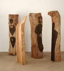 """Ana Mendieta """"Totem Grove"""" 1983-85"""