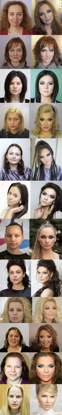 Before & after make-up - funny pictures #funnypictures