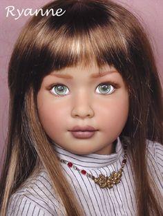 """The Kidz N Cats Doll Gallery - Ryanne is my repainted & rewigged 18"""" vinyl play doll originally by Sonja Hartmann"""