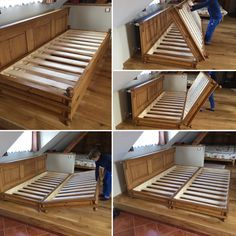 village style, folding double bed – diy home decor wood