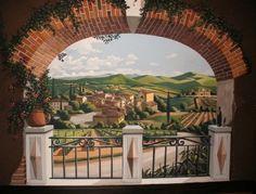 demolliart.com Tuscan mural