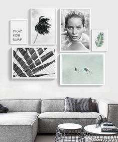 Gallery wall beach wall art set of 6 prints printable set Printable Gallery Wall printable set 6 Gallery Wall Frames, Frames On Wall, Wall Collage, Collage Ideas, Gallery Walls, Framed Wall, Cool Wall Decor, Modern Wall Decor, Art Decor