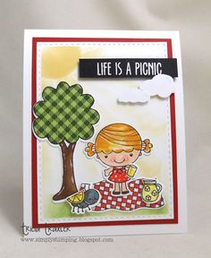 Your Next Stamp:   Picnic Phoebe stamp and die sets #yournextstamp