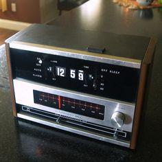 VINTAGE FLIP CLOCK Retro Radio  Needs Repair  by ACESFINDSVINTAGE, $19.95