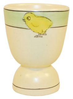 Roseville Pottery Juvenile Creamware Chick Egg Cup