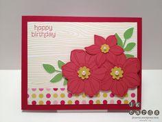 Stampin' Up!, Stylin' Stampin' Blog Hop, Secret Garden, Made for You, Woodgrain Background, Print Poetry DSP Stack, Secret Garden Framelits, Boho Blossoms Punch, Basic Jewels Pearls