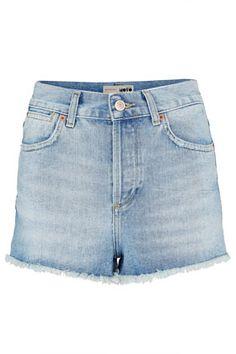 MOTO Bleach High Waist Hotpants - Shorts  - Clothing. Topshop