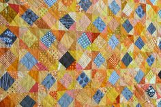 wonky square on wombat quilts Scrappy Quilts, Baby Quilts, Yellow Quilts, Quilting Designs, Quilt Design, Quilting Ideas, Grey Quilt, String Quilts, Mug Rugs