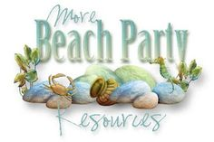 Beach-themed printables from PartyPlanningCenter.Blogspot.com