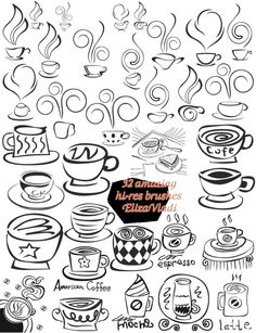 Coffee cup brushes