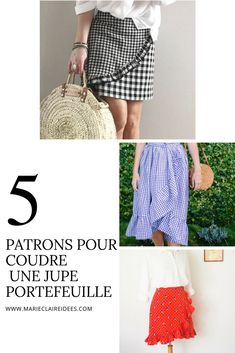 5 patrons pour coudre une jupe portefeuille / sewing patterns skirts