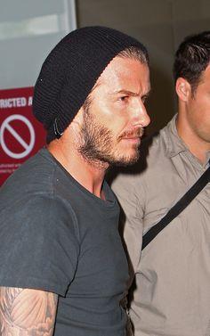 David Beckham in Burton Men's Truckstop Beanie (Black)