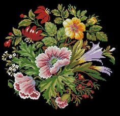 This Pin was discovered by Zuh Embroidery Motifs, Embroidery Patterns Free, Cross Stitch Embroidery, Cross Stitch Heart, Cross Stitch Flowers, Cross Stitch Designs, Cross Stitch Patterns, Pixel Crochet Blanket, Vintage Cross Stitches