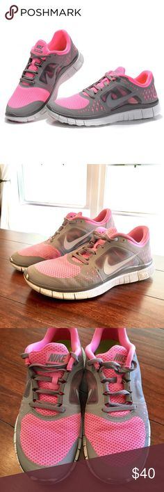 Nike Free Run 3 5.0 Nike Free Run 3 5.0 - Pink & Gray Size US 9 - Lightly Worn. Mostly worn in the gym! Comment if you have any questions! Nike Shoes Athletic Shoes