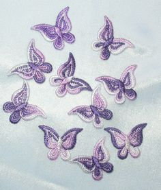 PATCHWORK PANDA LLC - Iron On Patch Applique - Butterfly Purple