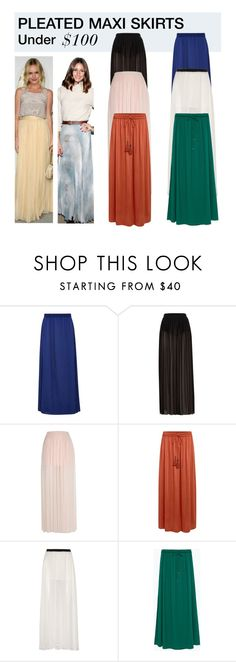 """Under $100: Pleated Maxi Skirts"" by polyvore-editorial ❤ liked on Polyvore featuring Viyella, River Island, Linea Weekend, Enza Costa, Zara, women's clothing, women's fashion, women, female and woman"