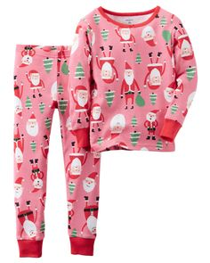 'Tis the season for cozy PJ sets! Crafted with ribbed cuffs and santa graphics, perfect for Christmas morning! Note: To help keep children safe,…