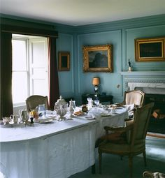 low-ceiling-traditional-dining-room-with-moulding: eautiful mouldings, but a lower ceiling. Don't be afraid of color, particularly in smaller rooms. While this is most likely an old home because of the deep windows, there's no reason that one couldn't turn their boxy dining room into a close facsimile of this.