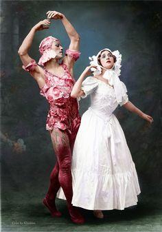Vaslav Nijinsky & Tamara Karsavina in Le Spectre de la rose Mar History of Russia, Imperial Russia Theatre Costumes, Ballet Costumes, Dance Costumes, Photography Winter, Dance Photography, Modern Dance, Alvin Ailey, Ballet Bolshoi, Dance Tutorial