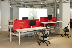 Knoll at NeoCon 2014 / Open Office / Workstations / Sit-to-Stand / Benching