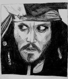 Johnny Depp - Pirates of the Caribbean - Jack Sparrow - Disney -Drawing