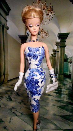 Vintage Repro Barbie Silkstone FR Poppy Parker Fashion Handmade Dress OOAK /Mary in | eBay