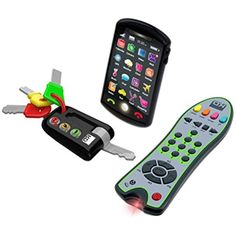 Kidz Delight Tech Trio Set - Give your child his own keys, phone, and remote with the Kidz Delight Tech Trio Set . Fun and ideal for imaginary play, the smartphone features. Toddler Toys, Baby Toys, Toddler Fun, Toddler Girl, Dexter, Teaching Colors, Tech Toys, Electronic Toys, Toys Online