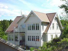 white swedish home - traditional design