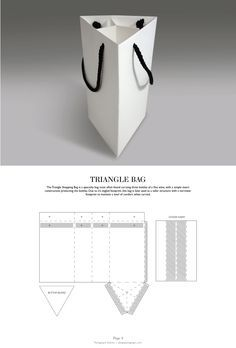 & DIELINES: The Designer's Book of Packaging Dielines Triangle Bag - Packaging & Dielines: The Designer's Book of Packaging DielinesTriangle Bag - Packaging & Dielines: The Designer's Book of Packaging Dielines