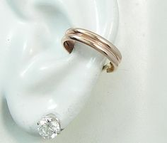 Ear Cuff Pink ROSE Gold Earcuff No Piercing Cartilage by earcuffs