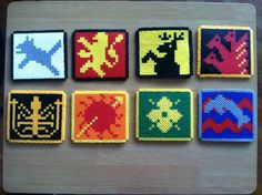 Game of Thrones House Coasters Set of 8 by GeekChicMerchant, $40.00