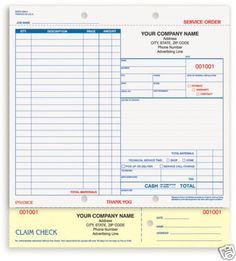 Automotive Garage Repair Service Order Forms  Stuff To Buy