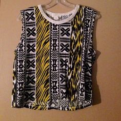 Tribal Crop Top Pretty much speaks for itself. Never worn Forever 21 Tops Crop Tops