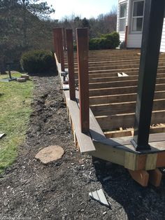Lowe's Composite Deck by Tropics is a beautiful low-maintenance product that is easy to install. See our beautiful new tropics deck and instructions how to install yours! Deck Design, Garden Design, Deck Repair, Deck Posts, Deck Stairs, Composite Decking, Building A Deck, Firewood, Lowes