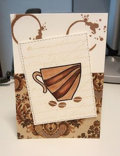 Creative With Monika: My Coffe Cup Card for Fall Coffee Lovers Blog Hop