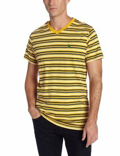 U.S. Polo Assn. Men's Short Sleeve Striped V-Neck T-Shirt, Egg Yoke, X-Large Discount - http://mydailypromo.com/u-s-polo-assn-mens-short-sleeve-striped-v-neck-t-shirt-egg-yoke-x-large-discount.html