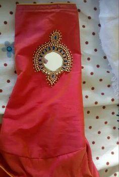 Contact:6282247478 Saree Jacket Designs, Wedding Saree Blouse Designs, Pattu Saree Blouse Designs, Simple Blouse Designs, Blouse Designs Silk, Mirror Work Blouse Design, Embroidery Neck Designs, Kurta Neck Design, Sleeve Designs
