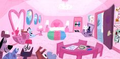 The Powerpuff Girls colour concept art, by Lou Romano