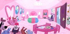 The Powerpuff Girls colour concept art, by Lou Romano