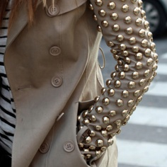 Add some bang to your fall wardrobe with a studded trench coat!