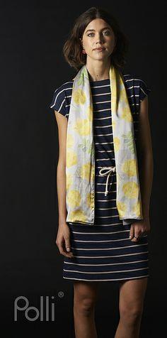 Polli new 100% Silk and Merino Scarves fractal wattle