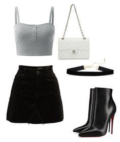 """Sem título #19"" by catharina-bordallo on Polyvore featuring moda, BLANKNYC, Christian Louboutin e Chanel"
