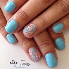 Spring gel nail art design