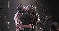 John and Elizabeth Proctor... Last kiss...The Crucible at The Old Vic. Summer 2014 #RichardArmitage