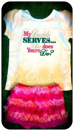 Pettishorts & Custom Embroidered shirts http://www.toobowlicious.com/products/my-daddy-serves