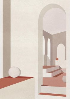 Architectural Drawing Ideas - Having grown up in a household headed by a lighting designer, British artist Charlotte Taylor was no stranger to the works of Pawson, Bofill, and Barragan. Art Minimaliste, Minimal Art, Turbulence Deco, Digital Illustration, Illustration Story, Fine Art Paper, Abstract Art, Charlotte Taylor, Taylor S