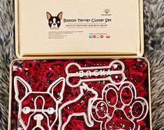 36 printable dog grooming promotional pieces all new seasonal ones cole the boston terrier boston terrier cookie cutter dog face cookie cutter pup cutter solutioingenieria Images