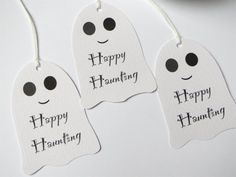 Ghost Halloween favor tags Halloween party by WildSugarberries, $4.75